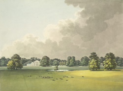 A view in Kew Gardens of the Queen's Lodge